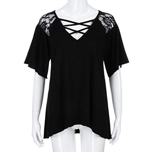 Kanpola Shirt Classique Noir Femme Boutons Longues Places Sweat Women Manches Chemise Col qrAwE0rRH