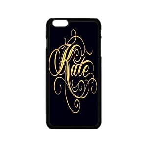 "Kate Spade Fashion Holiday Gift Print With Hard Shell Case for iPhone 6 Plus 5.5""-Black"