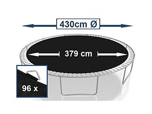 Trampoline 427/–430//sprungmatte cm-toile pour trampoline 96 anneaux ressorts 16,5 cm
