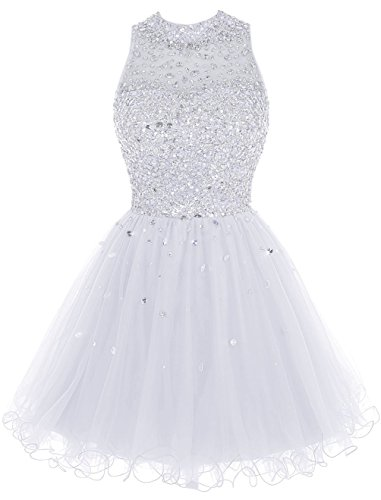 Abendkleider Kurz White Juniors for Luxury Fanciest Kleider Heimkehr Beaded 2016 Gowns Damen xBwIOqwz