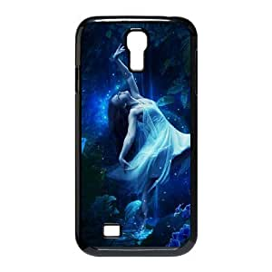 Diy Beautiful Gothic Fairy Custom Cover Phone Case for samsung galaxy s4 Black Shell Phone [Pattern-3]