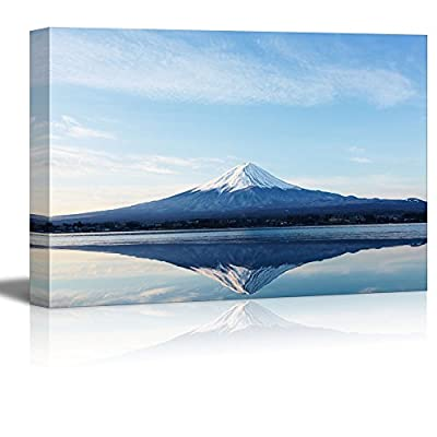 Canvas Prints Wall Art - an Inverted Image of Mt Fuji | Modern Wall Decor/Home Decoration Stretched Gallery Canvas Wrap Giclee Print. Ready to Hang - 12
