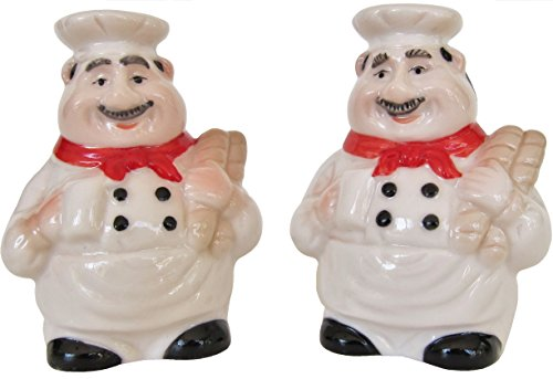 (Italian Chef Salt and Pepper Shaker Set by Chef Decor)