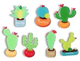 Cactus Magnets Refrigerator Magnet Fridge Magnet Cactus Kitchen Magnets Fun Magnets Decorative Magnets Cute Magnets (Succulent)
