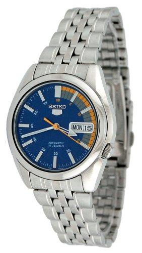 Seiko Men's SNK371K Seiko 5 Automatic Blue Dial Stainless Steel - Jewels 21 Seiko