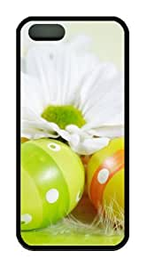 Easter holiday eggs flowers TPU Black awesome iphone 5S cover for Apple iPhone 5/5S