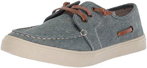 The Children's Place Boys' BB Laceup Street Slipper, Chambray, Youth 12 Medium US Infant - Image 1