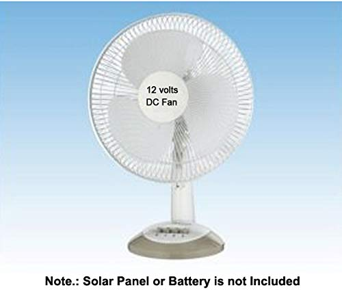 Saish 12 volts DC Table Fan directly run through Solar Panel or any 12 volts Battery product image