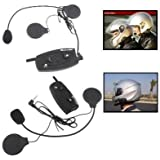 Intercom Bluetooth kit mains libres double moto 500 mètres