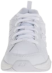 New Balance KX624 Lace-Up Training Shoe (Little Kid/Big Kid),White,5.5 W US Big Kid