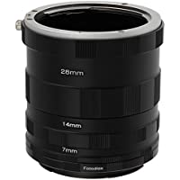 Fotodiox Canon EOS Macro Extension Tube Set Kit for Extreme Close-up, fits Canon EOS 1D, 1DS, Mark II, III, IV, 1DC, 1DX, D30, D60, 10D, 20D, 20DA, 30D, 40D, 50D, 60D, 60DA, 5D, Mark II, Mark III, 7D, Rebel XT, XTi, XSi, T1, T1i, T2i, T3, T3i, T4, T4i