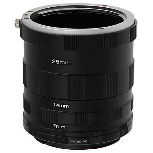 Fotodiox Canon EOS Macro Extension Tube Set for Extreme (Extension Tubes Macro Lens)