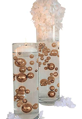 Gold Pearls - Jumbo/Assorted Sizes Vase Decorations - to Float The Pearls Order The Floating Packs from Options Below