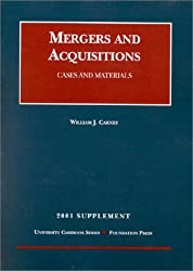 2001 Supplement to Mergers and Acquisitions: Cases and Materials (University Casebook Series)