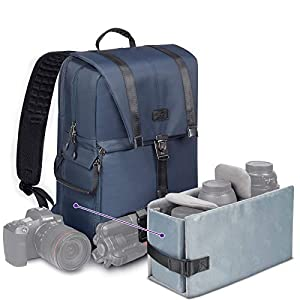 Best Epic Trends 41HQEIZpK4L._SS300_ Camera Backpacks for Photographers by Altura Photo Large Camera Backpack for Sony, Nikon, Canon Cameras, The Navigator…