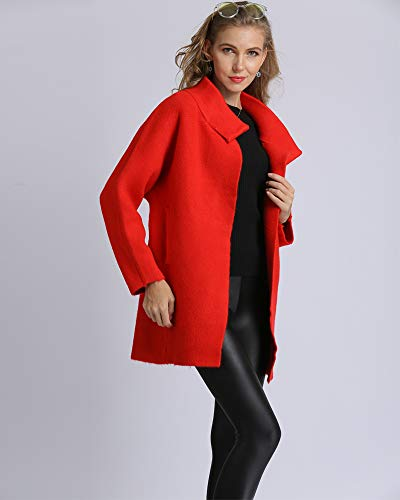 02 red Medeshe Para Chaqueta Mujer De Punto wX6YrXq