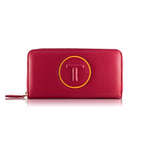 Tressette Exklusive Damen-Geldbörse Italienisches Leder Rot