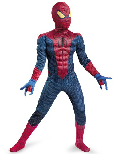 [Kids Spider-Man Muscle Chest Halloween Costume XL 7-8 (48-60 lbs.)] (Muscle Chest Spiderman Costumes)