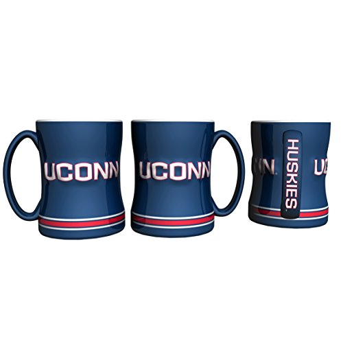Connecticut Huskies Coffee Mug - 14oz Sculpted - Connecticut Malls