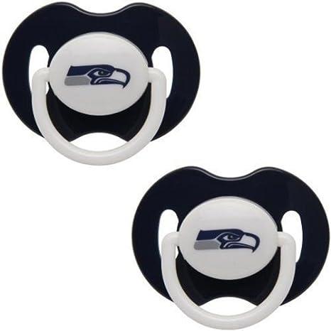 Amazon.com: Seattle Seahawks 2-Tone infantil Chupete 2-Pack ...
