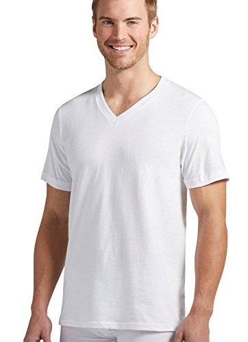 (Jockey Men's T-Shirts Big & Tall Classic V-Neck T-Shirt - 12 Pack, White, XLT )