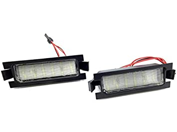 TMT LEDS(TM) PLAFONES LED MATRICULA HOMOLGADO E4 CE LUCES LED: Amazon.es: Coche y moto
