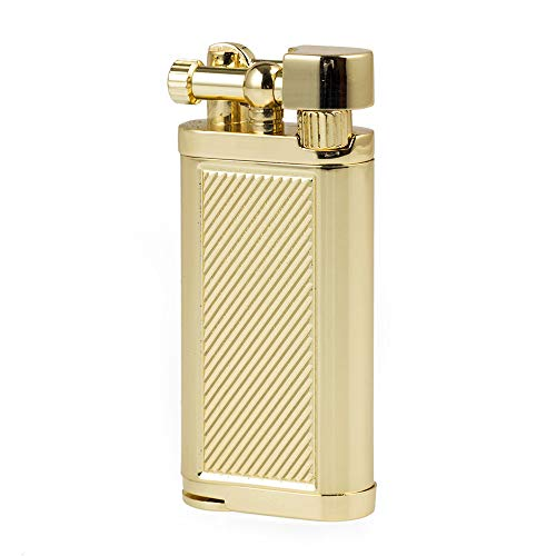 Antique Style Lift Arm Tobacco Pipe Cigarette Butane Lighter with Tamper & Pick (Gold) - Lighter Style Cigarette