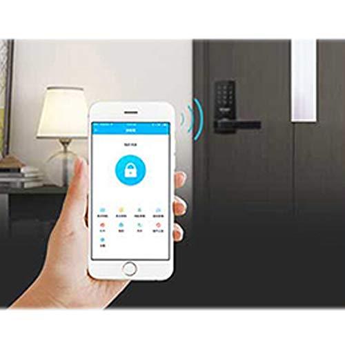 GAOPIN Combination Locks - WiFi Digital Electronic Smart Door Lock App, Smart Home Mobilephone App Intelligent Bluetooth keypad Password Door Lock, Black,3 by GAOPIN (Image #2)