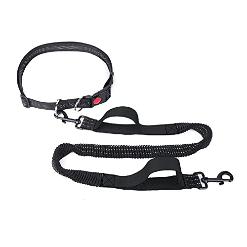 YIHATA Hands Free Dog Leash, with Adjustable Waist Belt and Reflective Stitching, Dual Padded Handles and Durable Bungee…