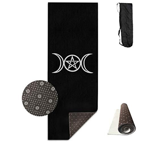 Tataoceanie Yoga Mat Triple Moon Pentacle Large Long Non Slip Workout Mat Rug Carpet with Free Carry Bag for Women Men