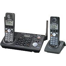 Panasonic KX-TG6702B 2-Line 5.8 GHz FHSS GigaRange Expandable Cordless Phone System with 2 Handsets