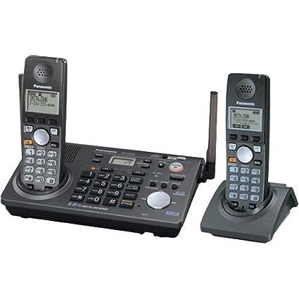 amazon com panasonic kx tg6702b 2 line 5 8 ghz fhss gigarange rh amazon com Colored Cordless Phones 4-Line Cordless Phones