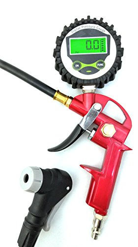 (GrimmTools - Digital Universal Bicycle Tire Inflator for Presta and Schrader valves)