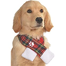 Rubie's Costume 887897-S-M Co Plaid Pet Christmas Scarf, Small/Medium
