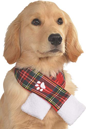 Rubie's Costume 887897-S-M Co Plaid Pet Christmas Scarf, Small/Medium