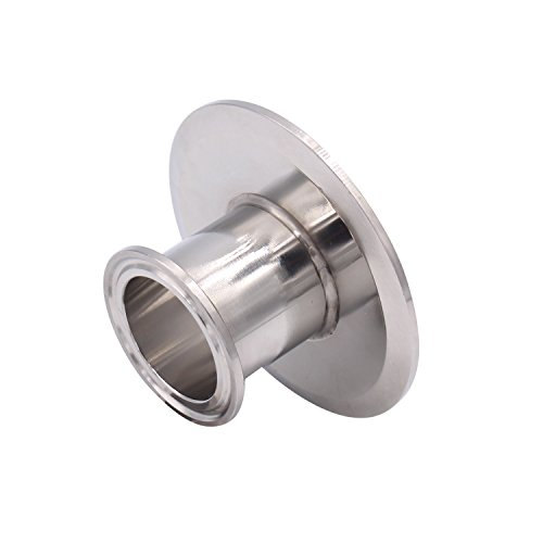 Dernord Sanitary Concentric Reducer Tri Clamp Clover Stainless Steel 304 Sanitary Fitting End Cap Reducer (Tri Clamp Size: 3 inch x 1.5 inch) (Steel Tubing Sizes)