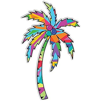 Palm tree sticker beach decal by megan j designs laptop car vinyl tumbler sticker