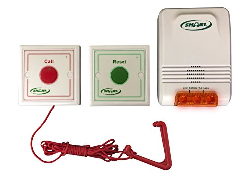 Emergency Call Light System - Fall Prevention for Bathroom or Bedroom. Easy to Setup!