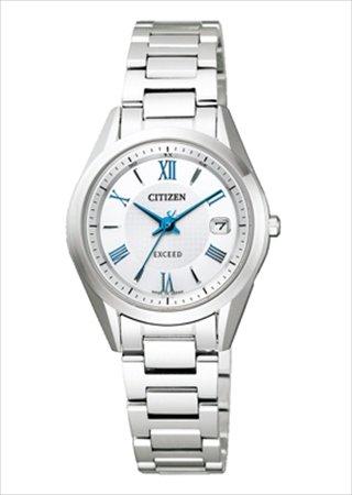 86ab7eeb54 Amazon | [シチズン] CITIZEN 腕時計 EXCEED エクシード エコ・ドライブ電波時計 ペアモデル ES1040-61A レディース  | 国内メーカー | 腕時計 通販