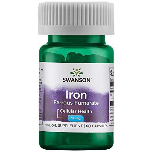 Swanson Iron (Ferrous Fumarate) 18 Milligrams 60 Capsules