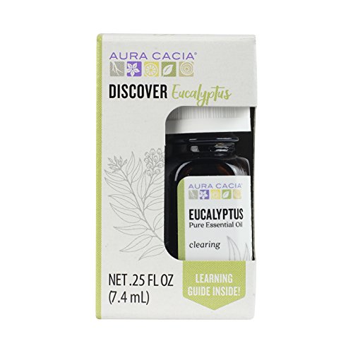 Aura Cacia Discover Essential Oil- Eucalyptus | Clearing Benefit with Fresh, Leafy Aroma | 0.25 fl oz. ()