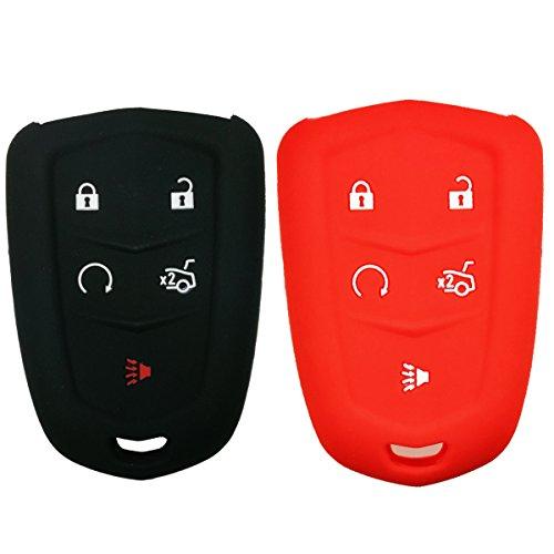 2Pcs Coolbestda Silicone Smart Key Fob Protector Keyless ...
