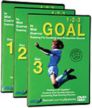 Wiel Coerver 123 Goal Training For Exciting and Productive Soccer 3 DVD Set - Wiel Coerver Goal