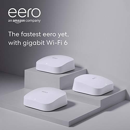 Introducing Amazon eero Pro 6 tri-band mesh Wi-Fi 6 machine with integrated Zigbee good house hub (3-pack)