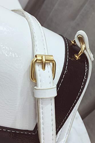 Épaule Simple Cuir De Couture Couleur En Unie Ypsg Pu White Voiture xgO4XAYwgq