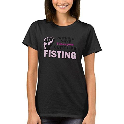 Zazzle Women's Basic T-Shirt, Fisting T-Shirt, Black XL (Bottom D600)