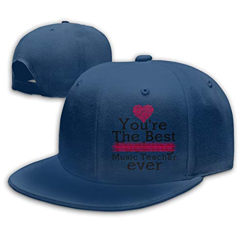 Unisex Baseball Cap Ponytail Baseball Hat Adjustable Navy-You're the best fucking Music Teacher ever (Best Fucking Music Ever)