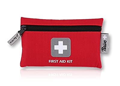 First Aid Kit – 66 Pieces – Small and Light Bag - Packed with Medical Supplies for Emergency, Survival, Hiking, Backpacking, Camping, Travel, Car & Cycling. Be prepared at Home & Work