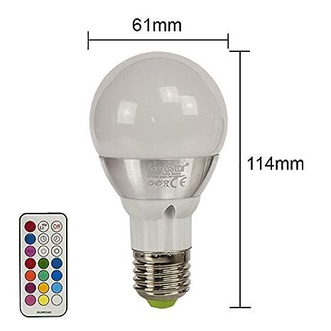 1 x LED RGB de bombillas de extra Star E27 16 coloures 4 vatios 5 vatios 8 vatios que cambia de colour de la luz de la bombilla Spot, E27, ...