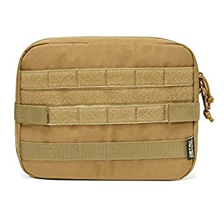 DBTAC Wet Bag, Molle Compatible with Diaper Backpack for Soiled Baby Items, Waterproof Resuable with Velcro Strap & Easy-Clean Material Pouch (Tan)